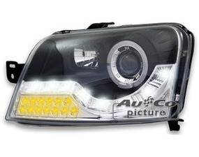 Far Fiat Panda 03- DRL izgled LED crni